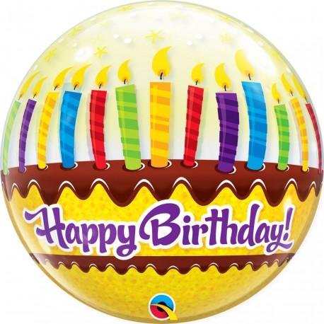 "Balon Bubble 22""/56 cm Candles & Frosting - Qualatex 10398"