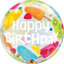 "Birthday! Celebration Bubble Balloon - 22""/56cm, Qualatex 68651, 1 piece"