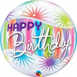 "Birthday Sorbet Starblast Bubble Balloon - 22""/56 cm, Qualatex 25704, 1 piece"