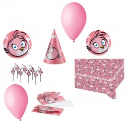 Pachet party Angry Birds Pink, Radar Pink, set 38 piese