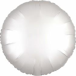 """18"""" Satin Luxe White Round Foil Balloon, Amscan 38589"""