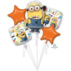 "Bouquet ""Despicable Me Party"" Foil Balloons, Amscan 36149, pack of 5 pieces"