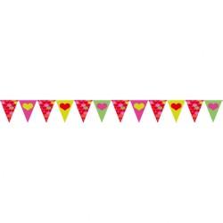 Banner decorativ pentru petrecere cu inimioare, 20 cm x 4 m, Amscan 400278
