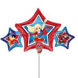 Balon mini figurina Super Hero Girls - 22 x 43 cm, Amscan 33226