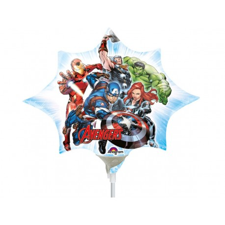 Balon Folie Mini Figurina Avengers Marvel Supereroii, 25 x 27 cm, Amscan 34658
