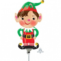 Balon Folie Mini Figurina Elf, 23 cm, Amscan 38316