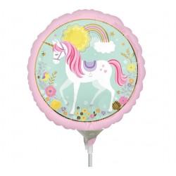 "9"" Magical Unicorn Mini Foil Balloon, Amscan 36853"
