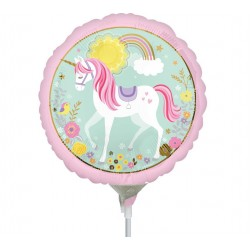 "Balon mini folie Magical Unicorn, 23cm/9"", Amscan 36853"