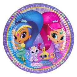 Party Plates Shimmer & Shine, 23 cm, Amscan 9902152