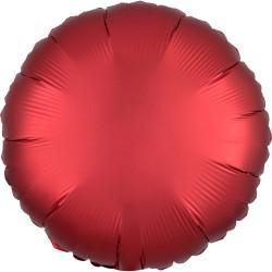 """18"""" Satin Luxe Sangria Round Foil Balloon, Amscan 38583"""