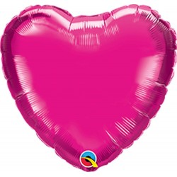 Balon mini folie magenta in forma de inima - 10 cm, Qualatex 99339, 1 buc