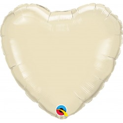 Balon mini folie ivory in forma de inima - 10 cm, Qualatex 27165, 1 buc