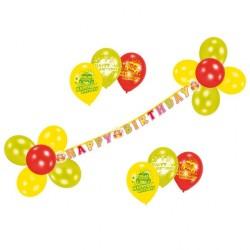 Kit decor banner Happy Birthday + baloane, Amscan 450283