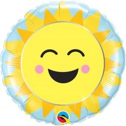 """9"""" Sunshine Rainbow Air Fill Microfoil Balloon, Qualatex 58459"""