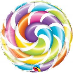 """9"""" Lollipop Air Fill Microfoil Balloon, Qualatex 58457"""