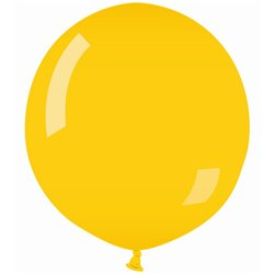 Yellow 02 Jumbo Latex Balloon, 39 inch (100 cm), Gemar G40.02, pack of 10 pcs