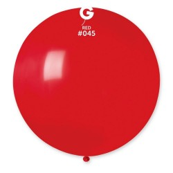Red 45 Jumbo Latex Balloon, 39 inch (100 cm), Gemar G40.45, pack of 10 pcs