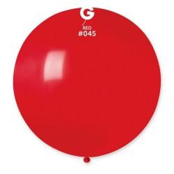 Red 45 Jumbo Latex Balloon, 39 inch (100 cm), Gemar G40.45, pack of 10 pcs