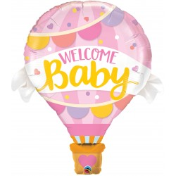 "42"" Welcome Baby Pink Balloon Shape Foil Balloon, Qualatex 78656"