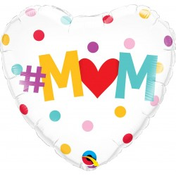 "18"" Mum Heart Shaped Balloon, Qualatex 82204"