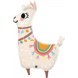 Balon Folie Figurina Lama - 114 cm, Qualatex 85914