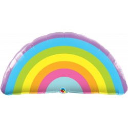 "36"" Radiant Rainbow Shaped Balloon Foil, Qualatex 78556"