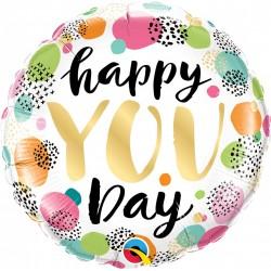 Balon Folie 45 cm Happy You Day, Qualatex 88073