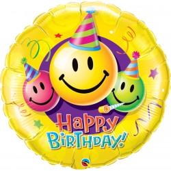 Balon Folie Figurina Smiley Faces - 91 cm, Qualatex 29860
