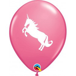 "Baloane latex 11""/28 cm Rose Unicorn, Qualatex 86019, set 6 bucati"