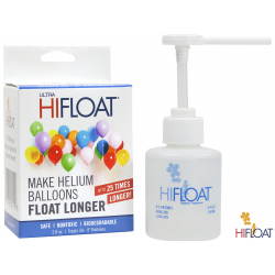 Gel Ultra Hi-Float pentru tratare baloane latex cu dispenser - 148 ml, Qualatex 55293, 1 buc