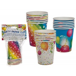 Party paper cup, ca. 250 ml, Radar 62/0804, pack of 8 pcs, 3 ass