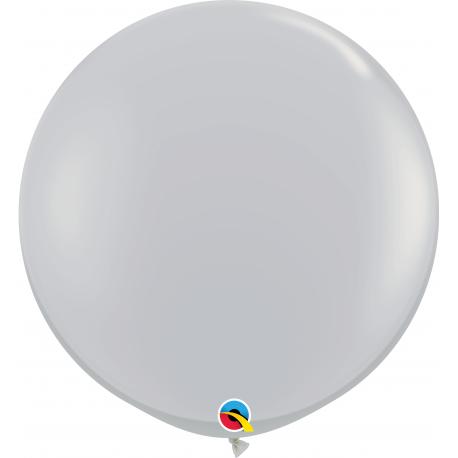 3' Jumbo Latex Balloons, Grey, Qualatex 92300, Pack of 2 pieces