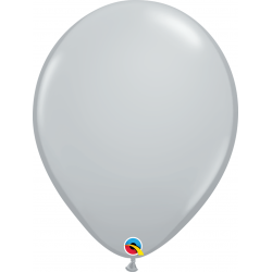 Grey Latex Balloon, 16 inch (41 cm), Qualatex 92289, Pack of 50 pieces
