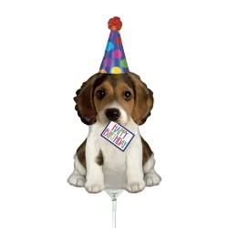 Balon mini figurina Catelus, Happy Birthday - 36 cm, Radar 19561