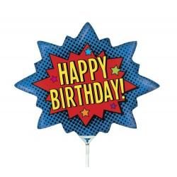 Balon mini figurina, Happy Birthday - 36 cm, Radar 19558