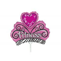 "Princess Tiara Mini Shape Foil Balloon - 14""/36 cm, Radar 19589"