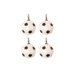 Lumanari aniversare pentru tort figurine minge fotbal, Radar 51307, set 4 bucati