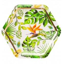 Tropical Party Plates, 18 cm, Radar 63919, pack of 8 pcs