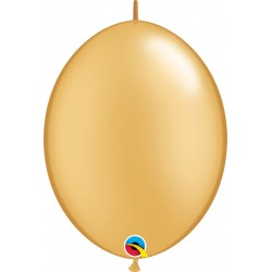 """6"""" Gold Quick Link Balloons, 6 inch (15 cm), Qualatex 90267, pack of 50 pcs"""