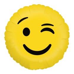 """Emoji Wink Round Foil Balloon - 18""""/45 cm, Radar 36266P"""