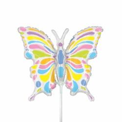 """Pastel Butterfly Mini Shape Foil Balloon - 14""""/36 cm, Radar 19087"""