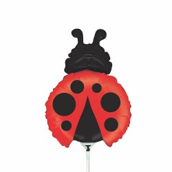 "Ladybug Mini Shape Foil Balloon - 14""/36 cm, Radar 19667"