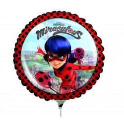 Balon Mini Folie Miraculous, 23 cm, 37793