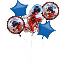"Bouquet ""Miraculous"" Foil Balloons, 37965, pack of 5 pieces"