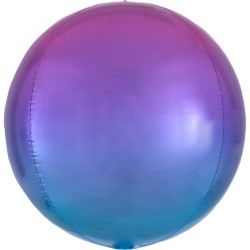 Balon folie Ombre Orbz Red & Blue - 38 x 40 cm, 39845