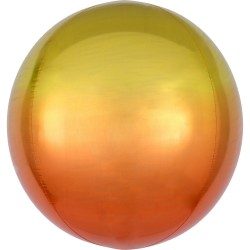 Ombre Orbz Yellow & Orange Foil Balloon, 38 x 40 cm, 39848