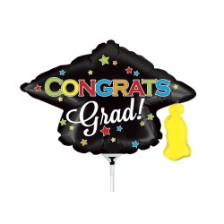 "Congrats Grad Mini Shape Foil Balloon - 14""/36 cm, Radar 19351"