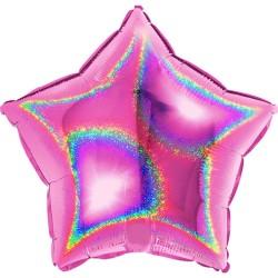 Glitter Fuxia Star Shaped Foil Balloon - 45 cm, Radar 19261GHF