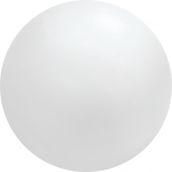 4ft White Chloroprene Latex Balloon, Qualatex 91215, 1 piece