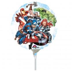 Balon Mini Folie Avengers, 23 cm, 34660